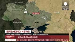Malaysian Airlines plane 'shot down' in Ukraine near Russian border