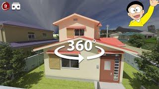 VR 360 - Nobita House Tour 【8K Video Quality】