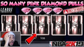 NBA 2K19 JUICED SUPER MOMENTS PACK OPENING WITH SO MANY PINK DIAMOND PULLS IN MYTEAM