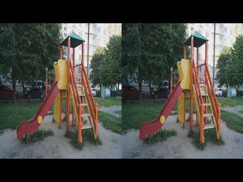 Children's Playground in 3D !Slides and swings!3D Photo