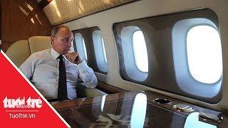 Su-35 áp sát hộ tống máy bay Tổng thống Putin