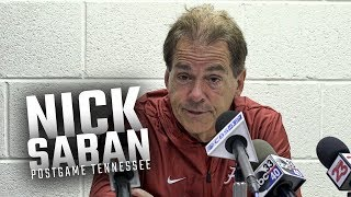 Hear what Nick Saban had to say following Alabama's week 8 win over Tennessee