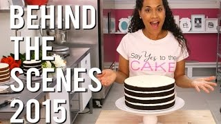 BEHIND THE SCENES of How To Cake It with Yolanda Gampp - 2015 Cakescraps!