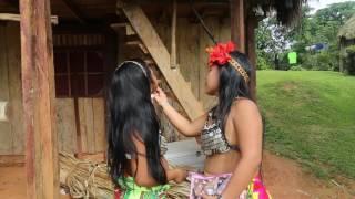Panama Tribu Emberra Préparation beauté / Panama Tribe Emberra Preparation make up
