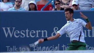 Hot Shot: Djokovic Delivers Critical Forehand Pass Against Federer In 2018 Cincinnati Final