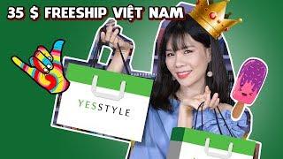 Hướng dẫn cách tự order mỹ phẩm Hàn Quốc, Nhật, Mỹ... từ web Yesstyle - 35 USD freeship Việt Nam