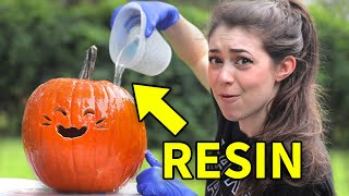 Can Resin Preserve a Pumpkin Carving?