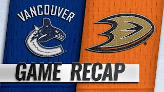 Four different Ducks score in 4-3 win against Canucks