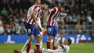 El Derbi - Real Madrid vs. Atletico Madrid (Fights, Fouls, Red Cards)