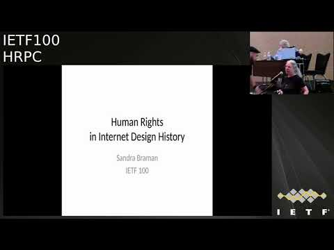 Human Rights Protocol Considerations - IETF100