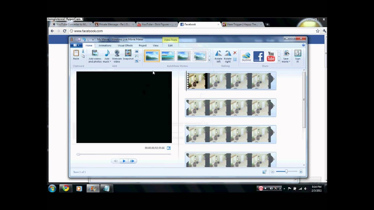 how to speed up clips in windows live movie maker