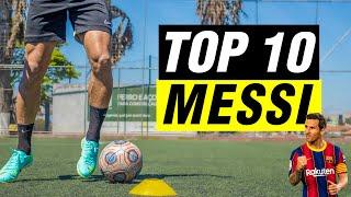 TOP 10 MELHORES DRIBLES DO MESSI |TUTORIAL DE DRIBLE | OS MELHORES DRIBLES DO FUTEBOL