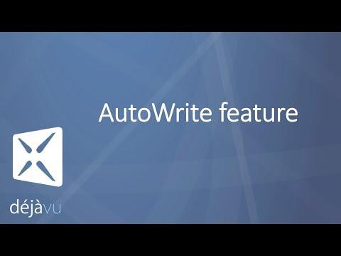 Déjà Vu X3 - AutoWrite