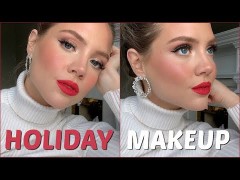 2019 Holiday Makeup | Classic Christmas Makeup | Elanna Pecherle 2019