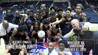 Wheeler STUNS Grayson to win the STATE 'CHIP!   Sam Hines Jr. scores 28!  Wheeler shows up and out!