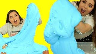 DIY MEGA FLUFFY SLIME! Giant Slime Monster!