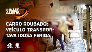 CARRO ROUBADO: Veículo transportava idosa ferida