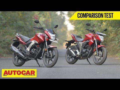 Honda CB Unicorn 160 VS Suzuki Gixxer | Comparison Test | Autocar India