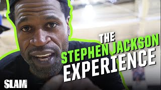 Stephen Jackson TALKS THAT REAL SH*T to High School Hoopers | SLAM Practice