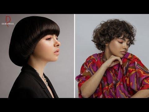 SASSOON DEMETRIUS | Стрижка Сессон на короткие волосы | Женская стрижка на кудрявые вьющиеся волосы photo