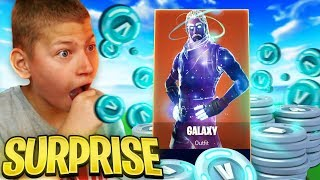"""SURPRISING JAYDEN WITH THE GALAXY SKIN!! """"BEST DAY OF MY LIFE"""" *EMOTIONAL* FORTNITE BATTLE ROYALE!"""