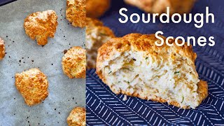 Cheddar & Sourdough Scones/Biscuits | What To Do With Discard Sourdough | ASMR | In Carina's Kitchen