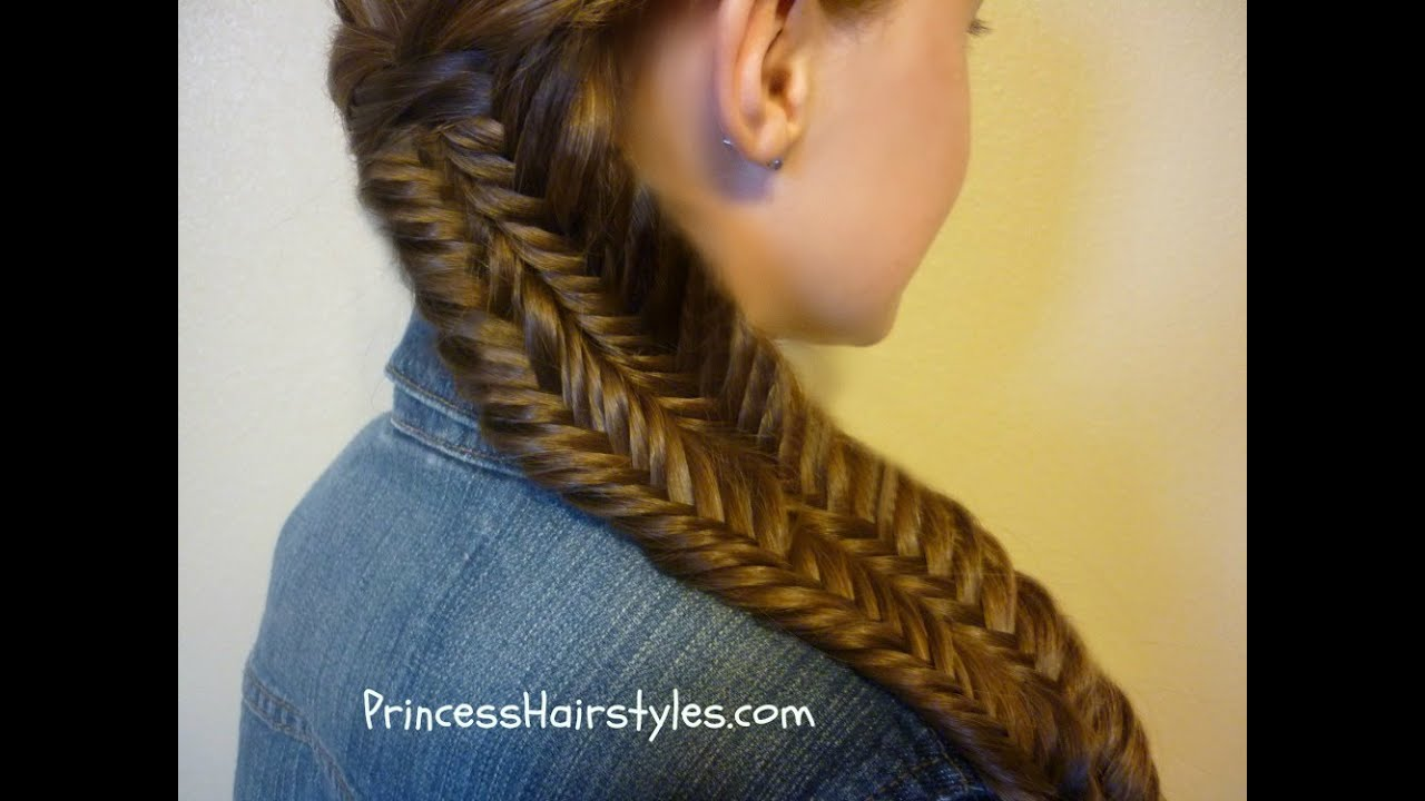 Hairstyles Braids Youtube: Fishtail Illusion Braid (Mermaid Braid) Hairstyle Tutorial