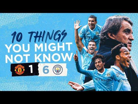 10 FAITS SUR LE DERBY 6-1 DEMOLITION | 10e anniversaire de United 1-6 City