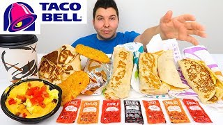 My First Time Trying Taco Bell Breakfast (Entire Menu) • MUKBANG