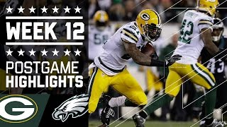 Packers vs. Eagles   NFL Week 12 Game Highlights