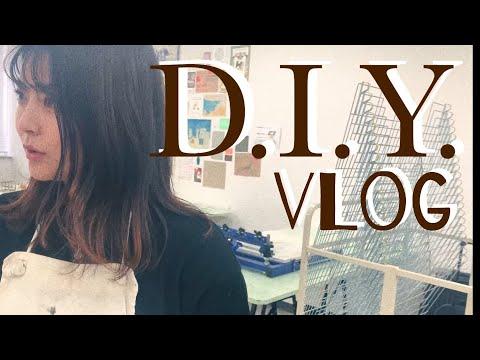 【D.I.Y. VLOG】シルクスクリーントートバッグ製作