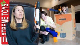 Sneak Attack Squad Vs Mom! Rainy Day Standing Broom Trick