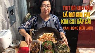 |TẬP 14| MẤY MÓN ĂN CƠM THƯỜNG NGÀY Ở HÀN QUỐC!반찬 만들기!MAKING KOREAN SIDE DISHES