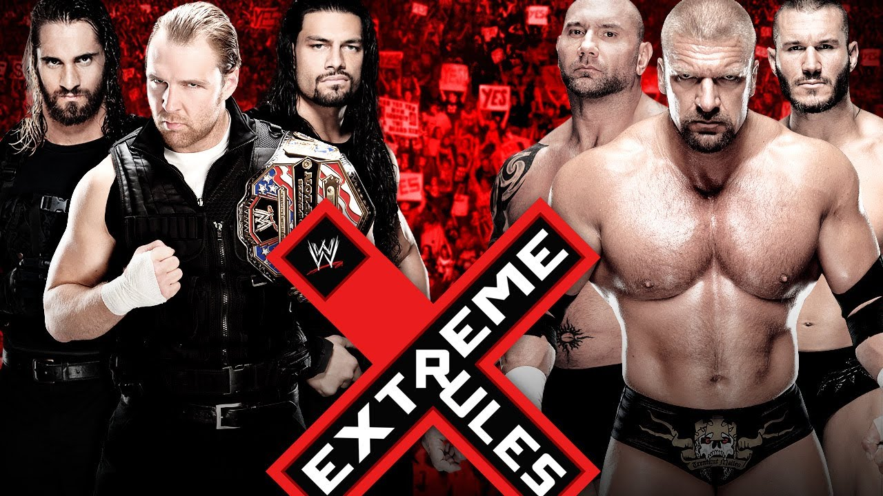 the shield vs evolution extreme rules wwe 2k14