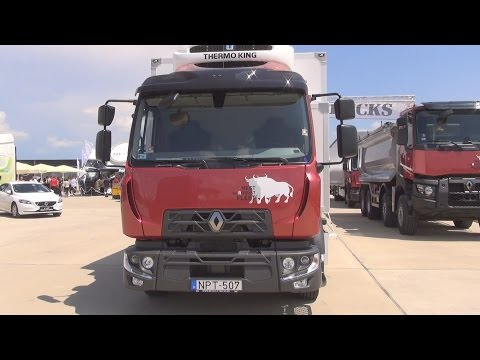 Renault Trucks D 12 Refrigerated Lorry Truck (2016) Exterior and Interior in 3D