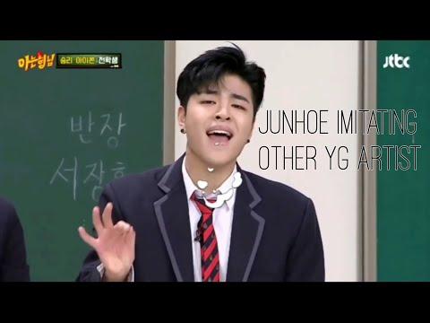 iKON JUNHOE aka KING of imitating Yg artist