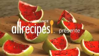 Recettes de cuisine : Allrecipes France Shooters mini pastèques à la vodka en vidéo