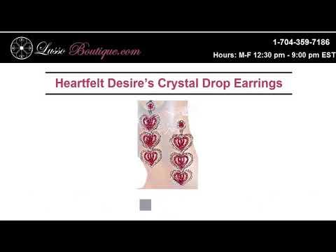 Heartfelt Desire's crystal Drop Ear Rings