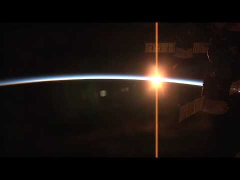 Sunset From The Space Station : Earth From Space