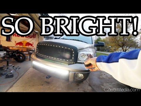 LED BAR INSTALL! It's so BRIGHT!! - Project Asian Redneck Ram #6