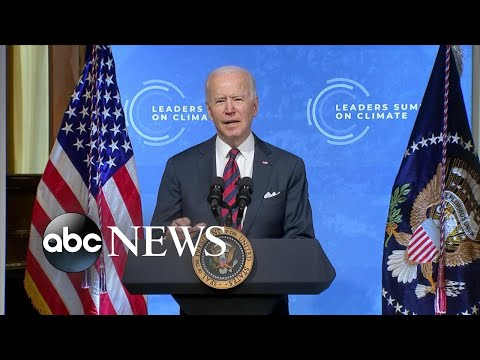 President Biden pledges to cut greenhouse gas emissions by 50%