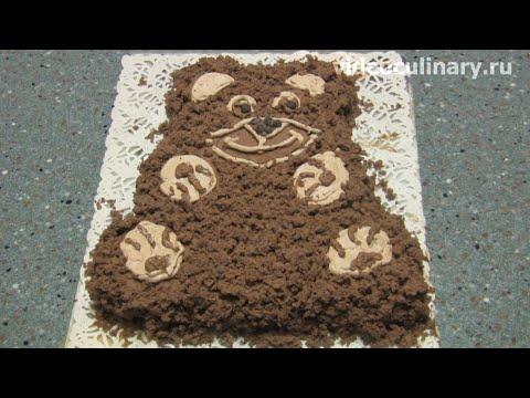 Детский торт шоколадный Мишка - рецепт Бабушки Эммы