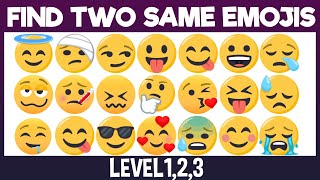 Can You Find Two Same Emojis?|Spot the difference|Emoji Game|Puzzle for Kids|Spot&Find plus