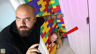 I Built A Top Secret Hidden Mega LEGO Blocks House!