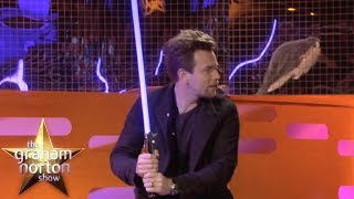Ewan McGregor Shows Off His Lightsaber Skills | The Graham Norton Show