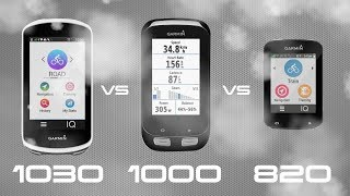 Garmin Edge 1030 vs 1000 vs 820