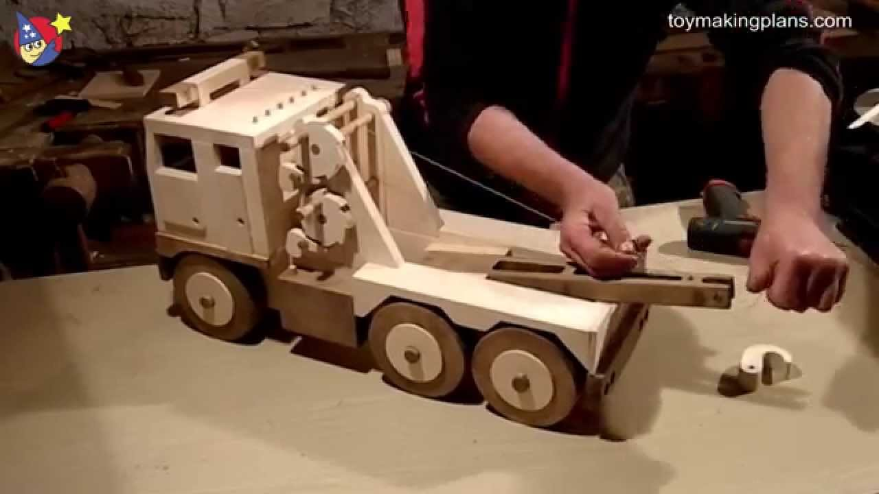 Wood Toy Plans Big Rig Wrecker Truck Youtube