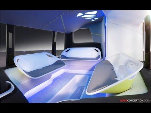 Transportation Design: Mercedes-Benz 'Future Bus' (Interior Design)
