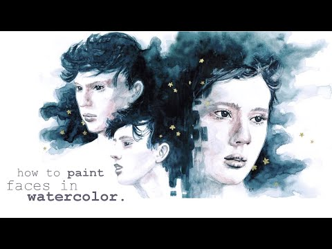 How to Paint Faces with Watercolor || Tutorial and Demo Painting Troye Sivan