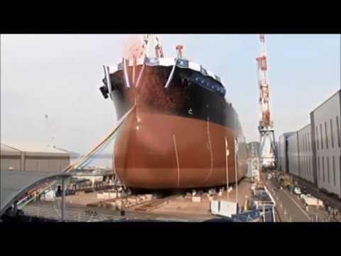 常石造船 進水式 「カムサマックス バルカー:KAMSARMAX」(2018/4/9):Launching Ceremony